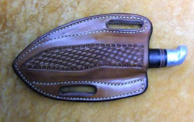 """Pancake\'\' or \'\'Horizontal\'\' knife sheath"