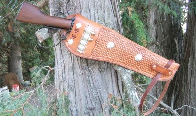 Rifle scabbard for short barreled 44 magnum